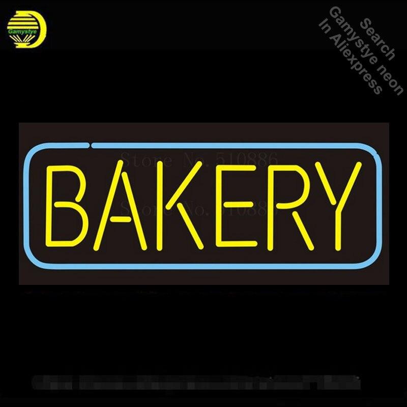Enseigne au néon personnalisée boulangerie pain alimentaire verre Tube bière Bar Club Pub affichage magasin lumière enseigne signalisation signes 17*14