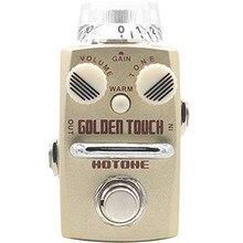 Hotone Skyline Serie GOLDENEN TOUCH Overdrive Pedal für Gitarre mit Freiem Pedal Fall und Mehr