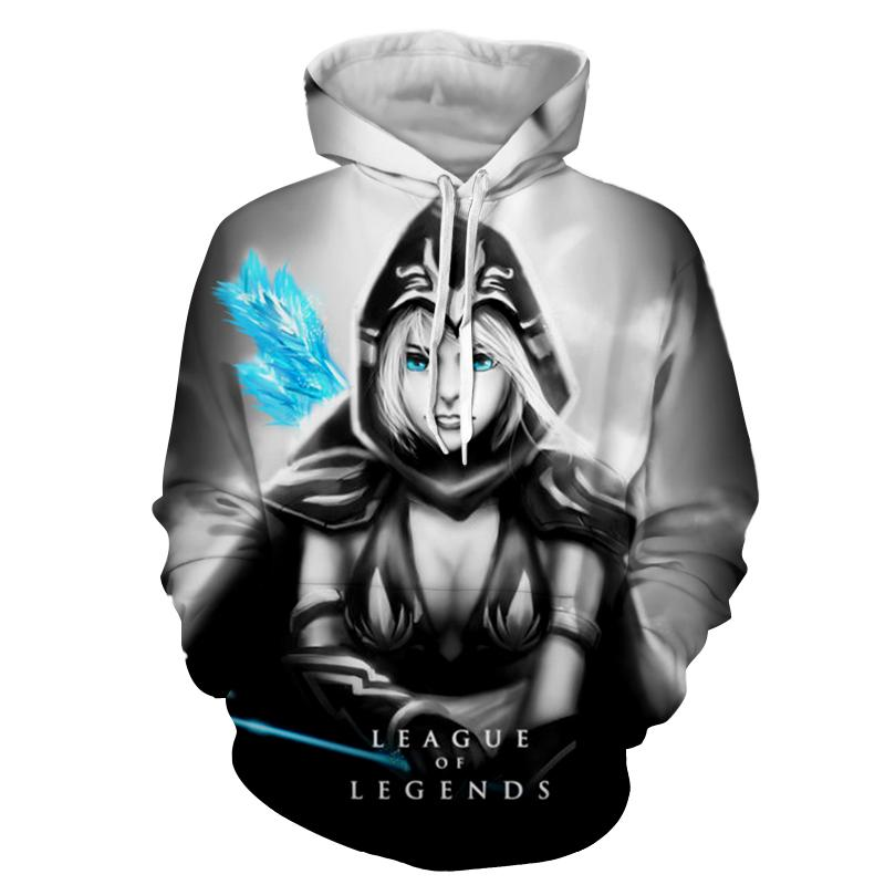 Anime Hoodie <font><b>Men</b></font> Game <font><b>League</b></font> <font><b>of</b></font> <font><b>Legends</b></font> <font><b>Cosplay</b></font> Costumes Cool Hoodies Mens Sweatshirt 3D Print Sweatshirts Pullover Halloween image