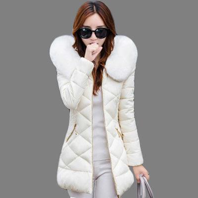 Mulheres jaqueta de inverno 2016 da moda longo fino algodão-acolchoado Com Capuz jaqueta parka casaco amassado outerwear jaqueta de inverno feminino AA226