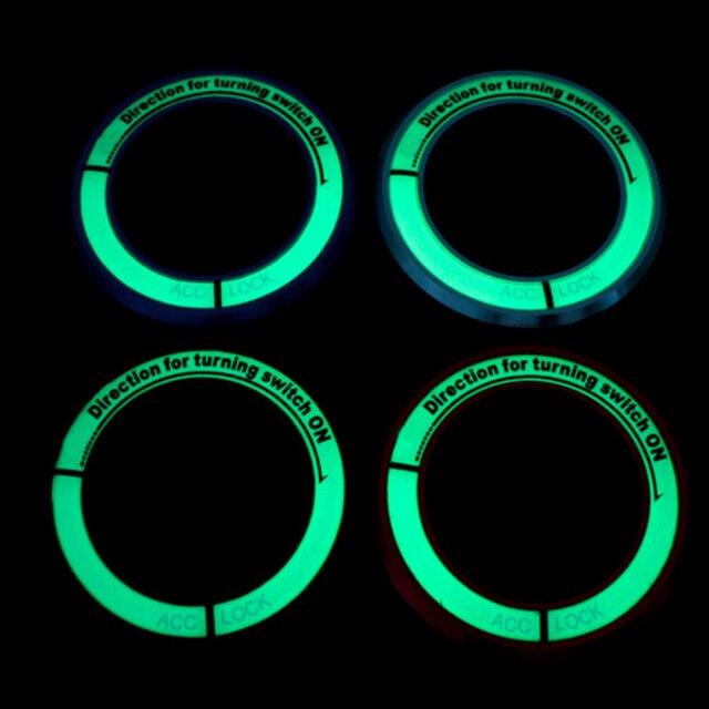 Auto Zündschloss abdeckung noctilucence glow 3D aufkleber autozubehör für Opel astra h j g mokka insignia zafira corsa Cruze