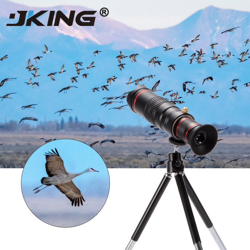 JKING Cellphone mobile phone HD 4K 22x Camera Zoom optical Telescope telephoto Lens For Samsung iphone huawei xiaomi