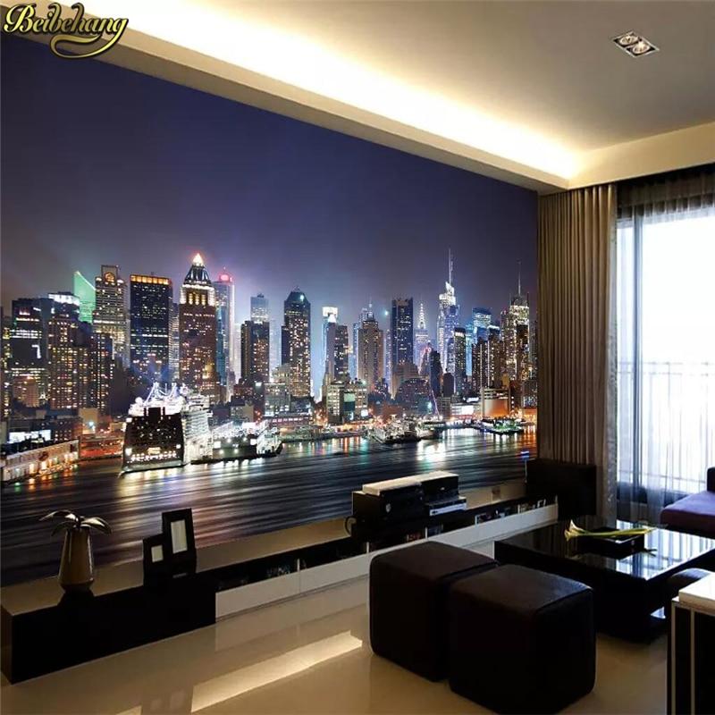 beibehang 3d papel de paede New York City large mural