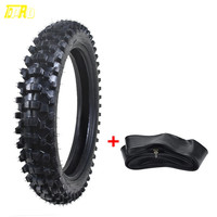 TDPRO Motorcycle Wheel Motocross Rear Tire +Tube 110/90 18 4.10/3.50X18 18 Dirt Bike Scooter Supermoto Karting Tyre