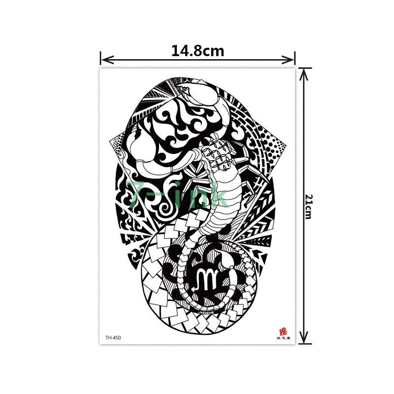 Temporary Tattoo Sticker Large Size Body Art Sketch Flower: 2019 NEW Temporary Tatoo Sticker Large Size Body Art