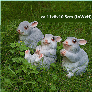 Image 4 - Figuritas de conejo de resina para decoración de jardín, patio de arte al aire libre, adorno de figuritas de animales para jardín
