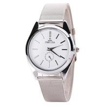 Luxury Men's watches Brand women watches Ultra Thin Stainless Steel Mesh Band Quartz Wristwatch Fashion clock Ladies Watch