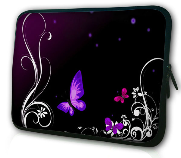 New Butterfly Neoprene 5/ 7/ 10/ 11/ 12 /13 14/ 15/ 17 Inch Laptop Sleeve Bag Handle Bag Netbook Inner Pouch Computer PC bag #1