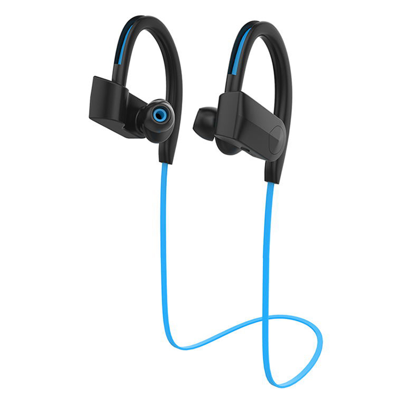 Professional Sports Bluetooth Headphones Bluetooth4.1 Headset Waterproof Earphone Two-Channel Surround Stereo Subwoofer Earpiece