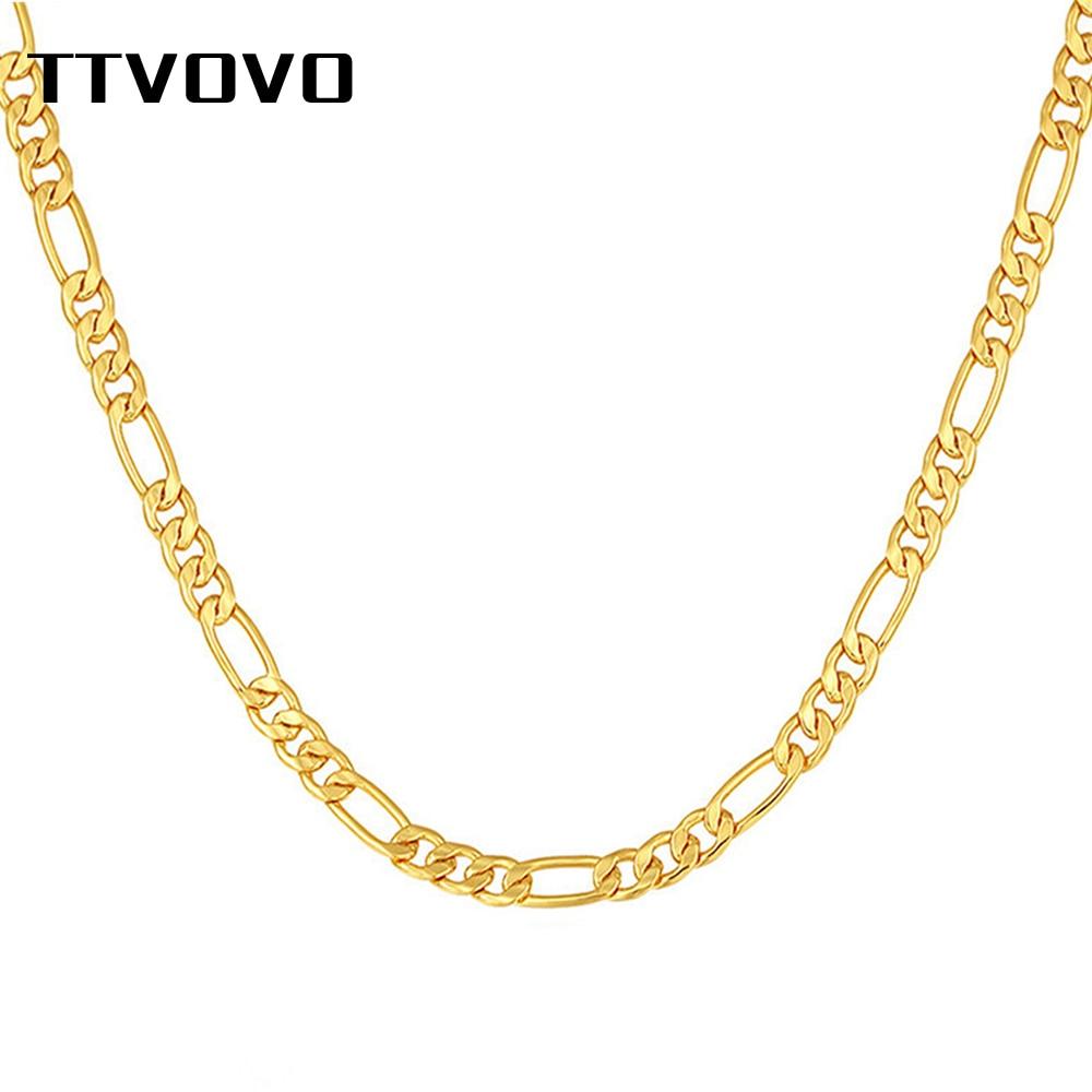 B-258 18K Yellow Gold Filled Figaro Chain Bracelet