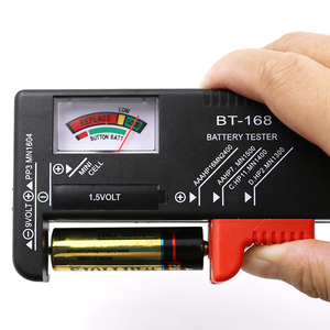 BT-168 AA/AAA/C/D/9V/1.5V batteries Universal Button Cell Battery Colour Coded Meter Indicate Volt Tester Checker BT168 Power(China)