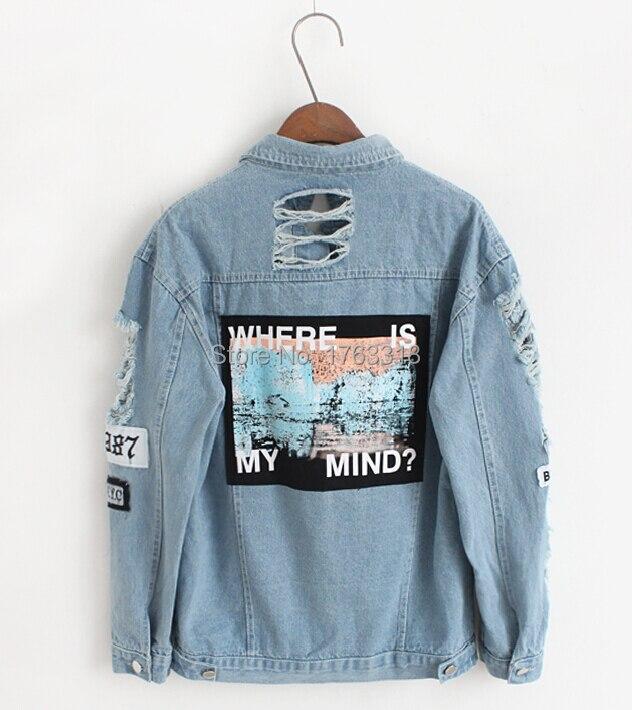 Popular Destroyed Denim Jacket-Buy Cheap Destroyed Denim Jacket ...