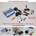 Carro Sensores de Estacionamento + Câmera de Visão Traseira = 2 em 1 Visual/BIBI Alarme Sistema De Estacionamento Para Toyota RAV4 RAV 4 2013 ~ 2015