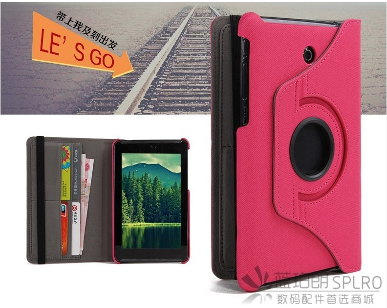 NEW Cowboy Grain ME372 Wallet Leather Case For ASUS Fonepad 7 ME372 ME372CG Tablet Rotate Cover Case +screen protectors