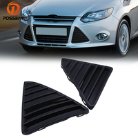 POSSABY 2 Pcs Black ABS Left Right Front Bumper Lower Grill Fit For Ford Focus 2012 2013 2014 Corner Grille Style Grilles Vent