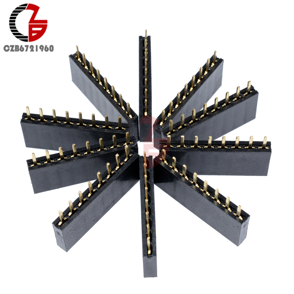 10Pcs 2.54mm 8 Pin Single Row Female Pin Header Straight Pin PCB Socket JST Connector For Arduino