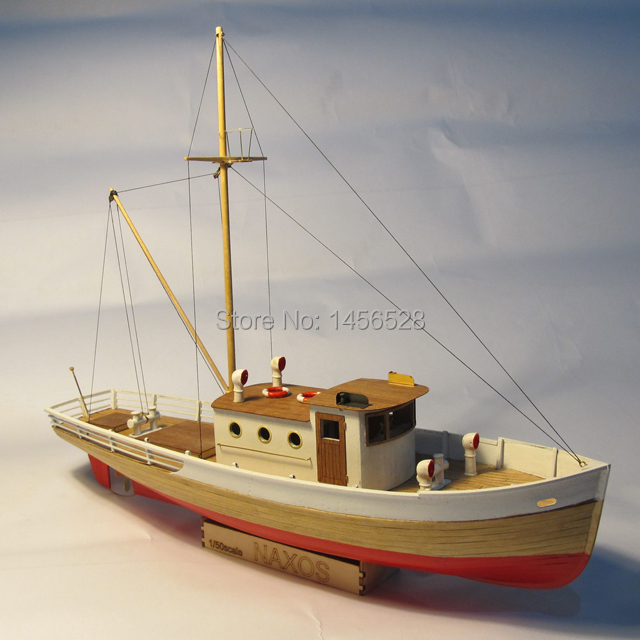 Classic wooden sailing boat scale model wood scale ship 1/50 NAXOS scale assembly model ship ...