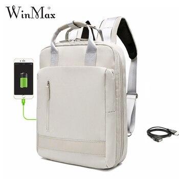 USB Charging Women Men Travel Backpack Large Capacity Teenager Mochila Back Anti-thief Bag 11-15.6