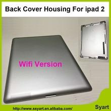 Envío libre 1 unidades de color plata real caso Trasero Para ipad 2 cubierta de la contraportada versión wifi vivienda cubierta de la batería reemplazo
