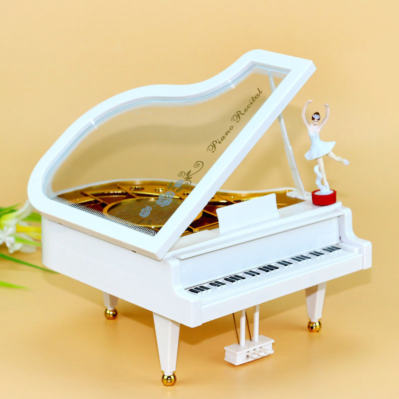 Rotating Music Box With Mirror Dancing Princess Girl Music Box