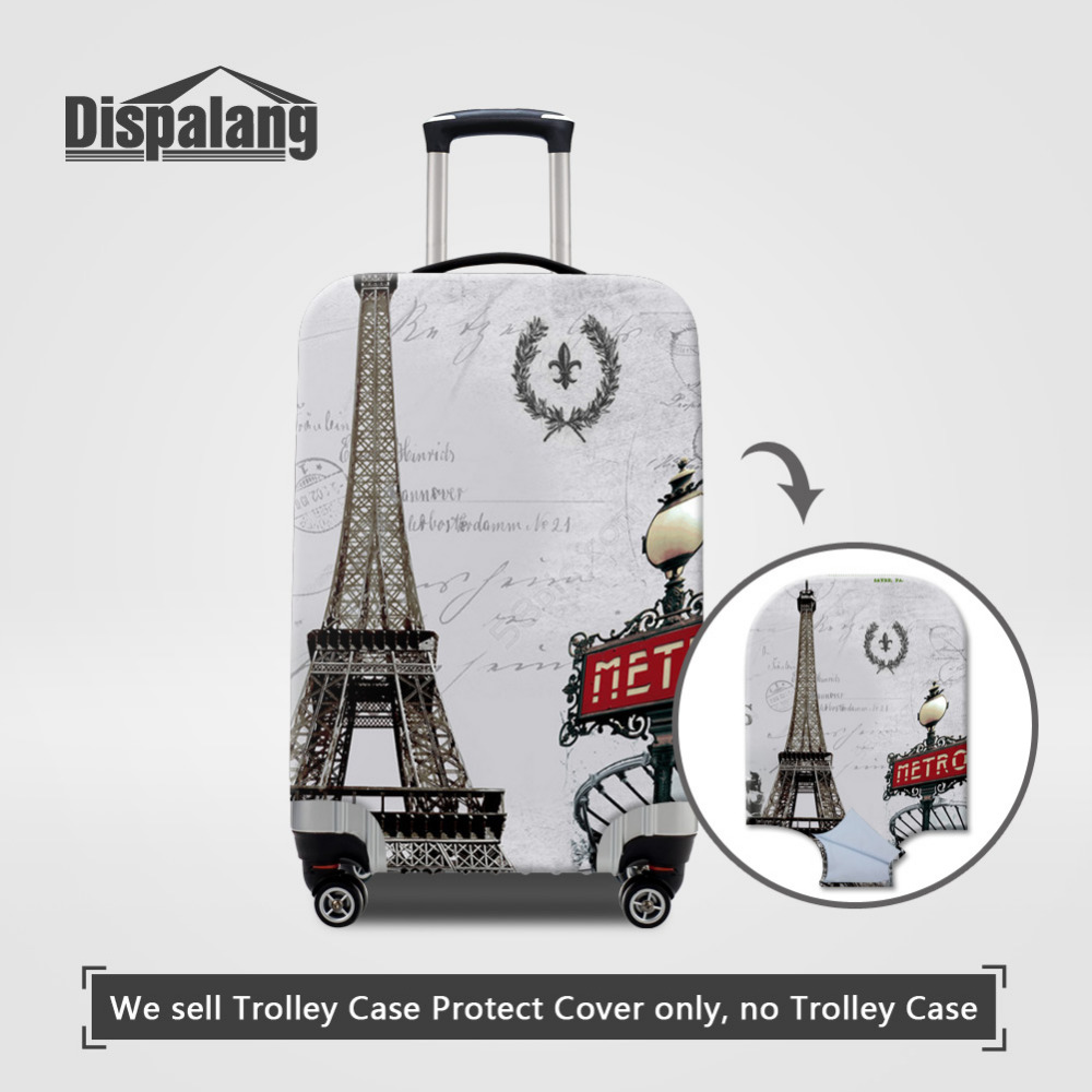 Dispalang Paris Eiffel Tower Print Elastic Luggage Protective Covers For 18-30 Inch Travel Case Thick Dust Proof Suitcase Cover eiffel tower car pattern protective tpu case for iphone 5 5s white red