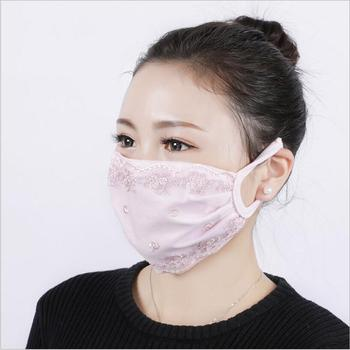 Summer Spring Lace Breathable face mask sun protective Shade anti-dust mouth mask Chiffon Mouth-muffle Mask Flu Face masks