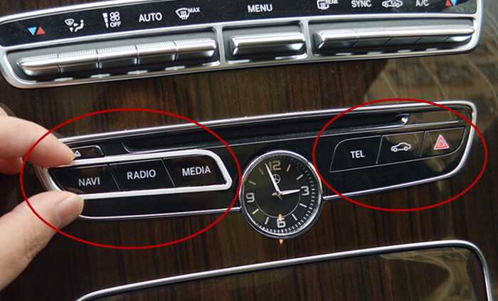 car styling control function button frame decorative cover trim interior 3d metal sticker for. Black Bedroom Furniture Sets. Home Design Ideas