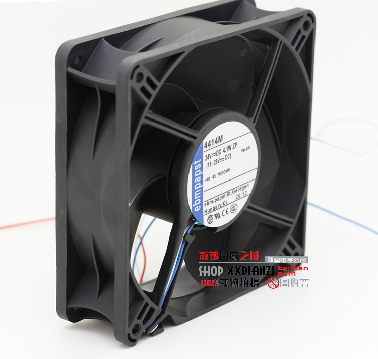 Free Delivery.Original 4414M EBMPAPAST 12038 24V 4.1W 12cm inverter fan new original wfb1224he broo 12038 12cm 24v 0 50a 3 wire inverter fan