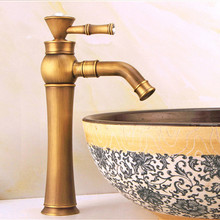 Free shipping Antique bathroom basin faucet with single handle bronze basin sink faucet from Senducst sanitary ware