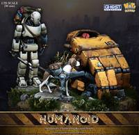 1:20 Resin Scene Hand held Scene Robot with Dog and Base