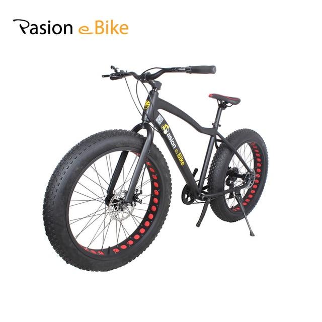 """PASIÓN E MOTO 17*26 """"Unisex bicicleta de la bici de montaña Marco de Aleación de Aluminio MTB de La Bicicleta 26*4.0 Grasa neumático de la bici con guardabarros"""