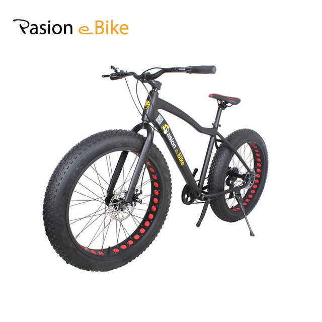 "PASION E BIKE 17*26"" Unisex bicicleta mountain bike Aluminum Alloy MTB Bicycle Frame 26*4.0 Fat Bike tire with fender"