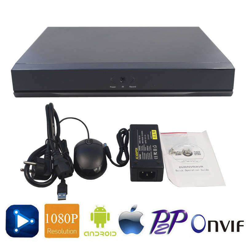 Full HD 1080P Network Video Recorder H.264 4CH 8CH 16CH NVR DVR P2P Security Surveillance Video For IP Camera ONVIF HDMI Output