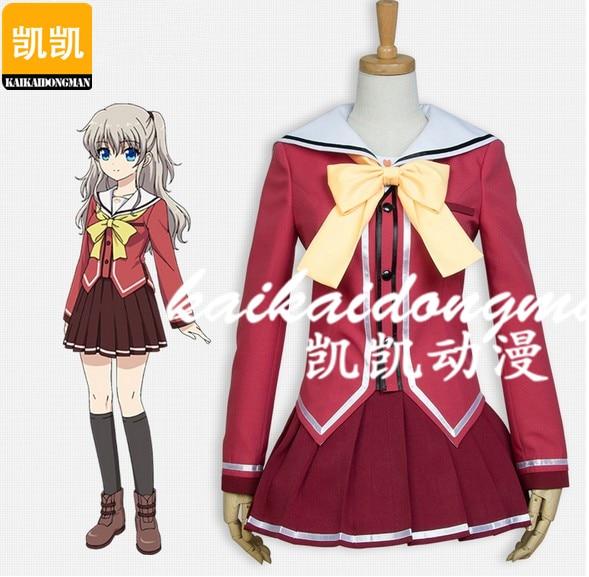 font b Anime b font Charlotte Nao Tomori Uniform Girls Halloween font b Cosplay b