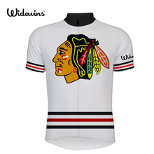 New CHICAGO BLACKHAWKS short sleeve cycling jersey Classical road RACE Cycling Wear red white Racing Clothing 8002
