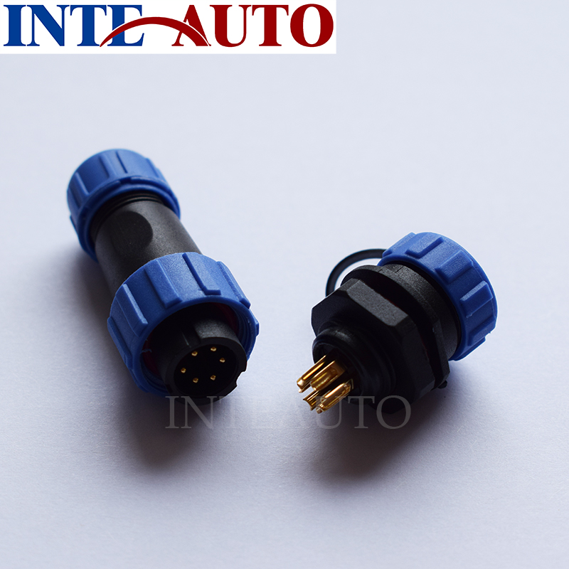 WEIPU Connector,compatible SP1310 series 6 pin waterproof Power wire cable connectors, Plug socket, IP68 degree connector sp1310 waterproof