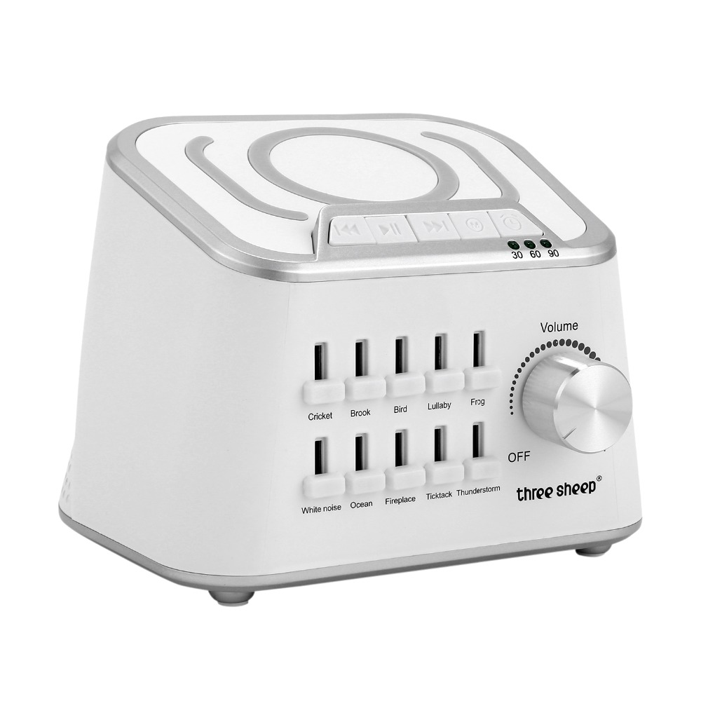 Portable White Noise Sleep Tones Sound Therapy Machine Home Good Sleep Noise Machine Sleep Therapy Regulator Natural for Women baby therapy sound machine white noise portable sleep soother machine record voice sensor soothing music sleep therapy regulator