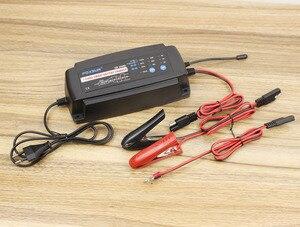 Image 5 - Foxsur 12ボルト2a 4a 8a自動スマートバッテリ充電器、7 stageスマートバッテリ充電器、車のバッテリー充電器用ゲルウェットagmバッテリー