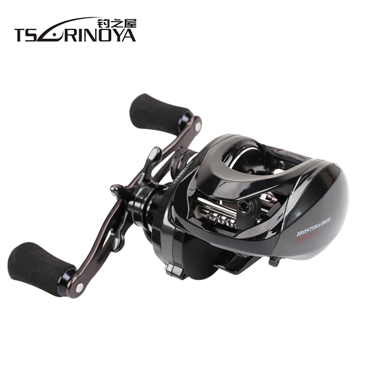 TSURINOYA Baitcasting Reel 6.3:1 10BB Bait Casting Fishing Reel Centrifugal Brake Carretilha Molinete De Pesca Carp Fishing Reel stealth 3bb 1rb plastic body bait casting carp fishing reel high speed baitcasting pesca 6 2 1 lure reel