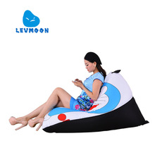 LEVMOON Beanbag Sofa Chair Viking Seat zac Shell Comfort Bean Bag Bed Cover Without Filler Cotton Indoor Beanbag Lounge Chair