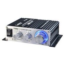 LP-V3S 50 Вт 12 В мини Hi-Fi стерео цифровой Мощность Усилители домашние MP3 Аудиомагнитолы автомобильные Динамик с 3.5 мм аудио Вход 3.5 мм MP3 разъем