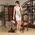 Nueva Llegada Elegante Patrón Chino Vestido de Las Mujeres de La Flor Corta Delgada Cheongsam Chino de La Boda Vestido de Fiesta Vestido de Noche 18