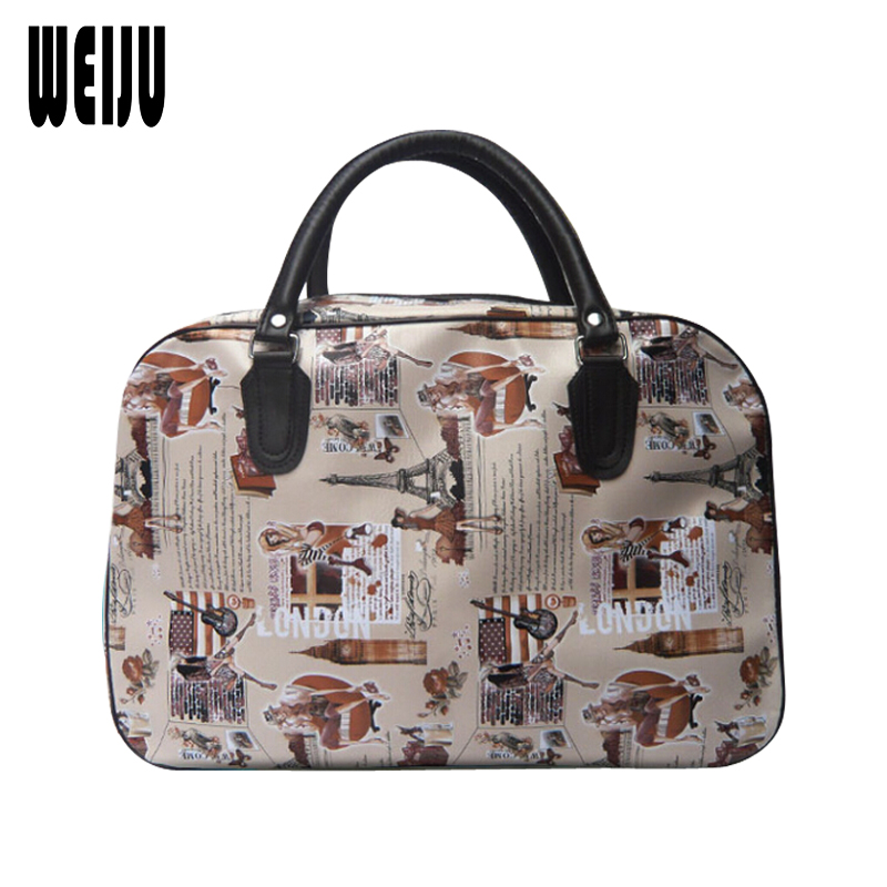 WEIJU New Travel Bag Women Handbags Large Capacity Luggage Duffle Bag Fashion Waterproof PU Leather Traveling Bags