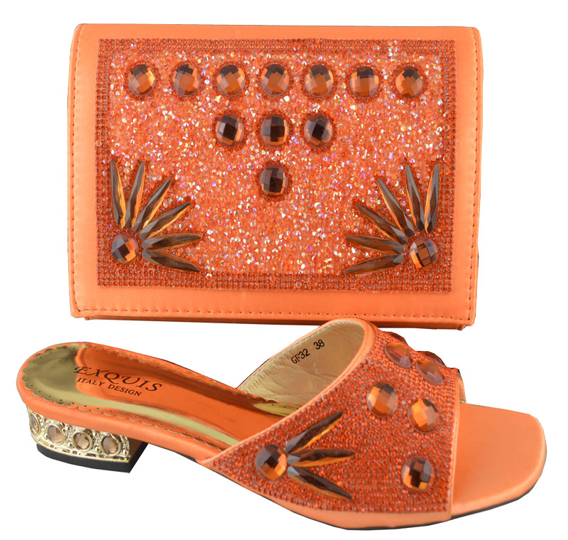 ФОТО FREE SHIPPING!Hot sell shoes matching bags ,Italy design shoe and bag set with shinning stones ,Size 38-43 !HP1-50