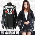 cosplay Kumamon coat top cos night robe mumei chiffon Japanese Kimono anime co black bear cosutme HU519