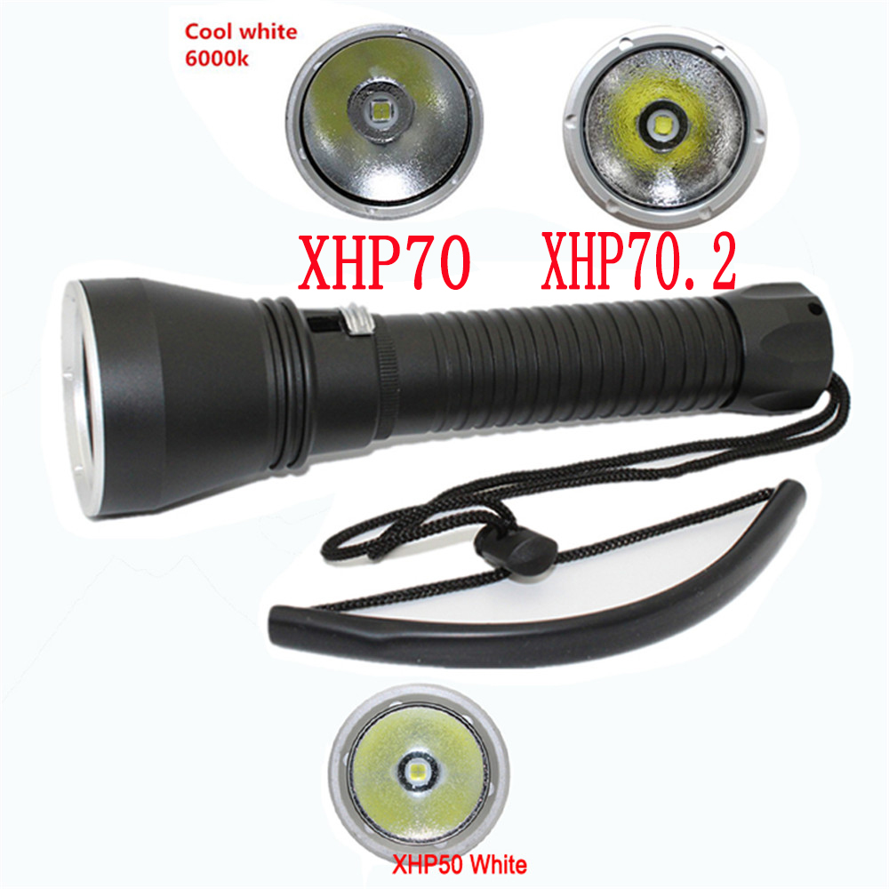 XHP70.2 LED Scuba Diving Flashlight 5000LM Utral Bright ...