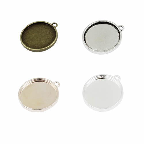 Fit 10mm Single Side Bezel With Single Ring  Alloy Antique Silver Cameo/Glass/Cabochon Frame Settings 50pcs/lot K05156