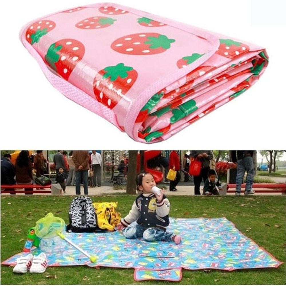 180*160cm Cartoon Waterproof Outdoor Camping Child Blanket ...