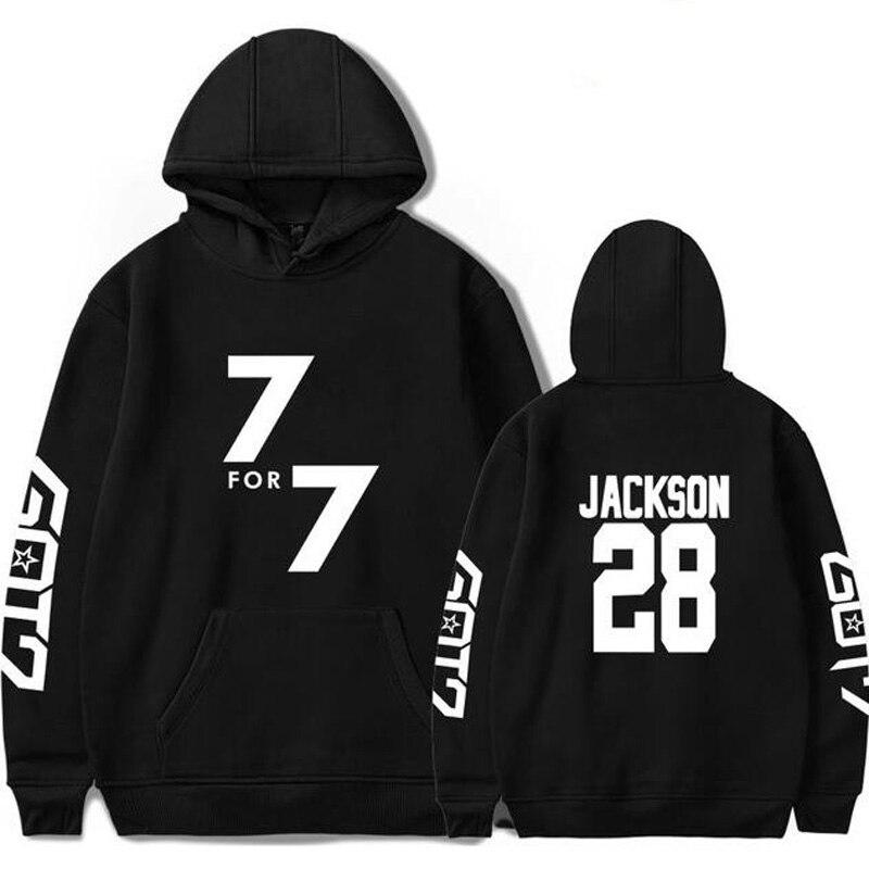 Korean KPOP GOT7 Oversized Hoodie Men and Women Hip Hop Funny Winter Streetwear Hooded Sweatshirt For Couples Clothes Never Ever