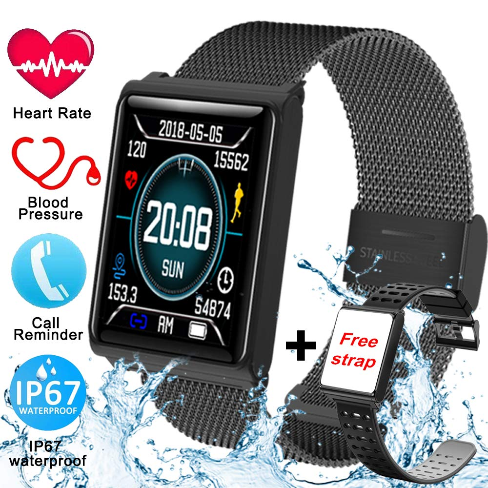 Fitness Smart Watch Men Tracker Heart Rate Blood Pressure Sleep Monitor For IOS Android Waterproof Color